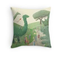 The Night Gardener - Summer Park  Throw Pillow