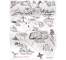A Map of Manuscript Earth Poster
