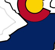 New Jersey outline Colorado flag Sticker