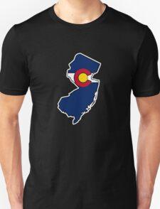 New Jersey outline Colorado flag Unisex T-Shirt