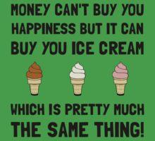 Money Buy Ice Cream One Piece - Short Sleeve