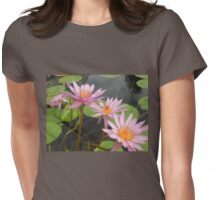 Pink Petals Lilies & lily pads Womens Fitted T-Shirt