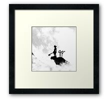 Kingdom Hearts Sora Keyblade Shadow Moon Framed Print