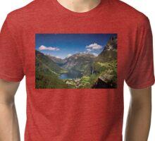 Geiranger Fjord Tri-blend T-Shirt