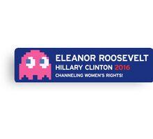 Eleanor Hillary Bumper Sticker Canvas Print