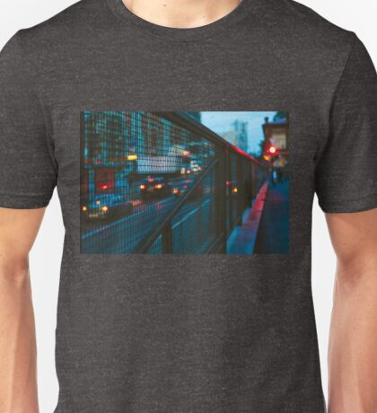 Blurred car lights Unisex T-Shirt