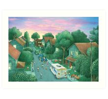 Grimloch Lane - Sunset  Art Print