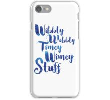 Doctor Who - Wibbly Wobbly Timey Wimey Stuff iPhone Case/Skin
