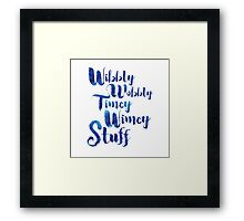 Doctor Who - Wibbly Wobbly Timey Wimey Stuff Framed Print