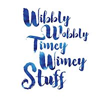 Doctor Who - Wibbly Wobbly Timey Wimey Stuff Photographic Print