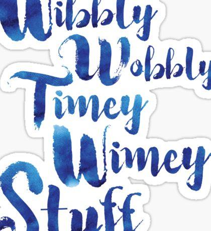 Doctor Who - Wibbly Wobbly Timey Wimey Stuff Sticker