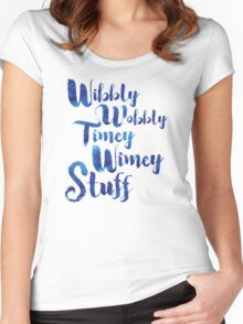 Doctor Who - Wibbly Wobbly Timey Wimey Stuff Women's Fitted Scoop T-Shirt