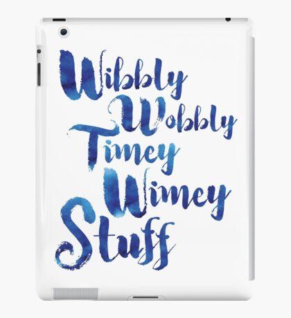Doctor Who - Wibbly Wobbly Timey Wimey Stuff iPad Case/Skin
