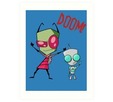 Invader Zim & Gir Doom! Art Print