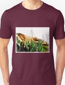 Island Caprera: military archeology and acacia Unisex T-Shirt
