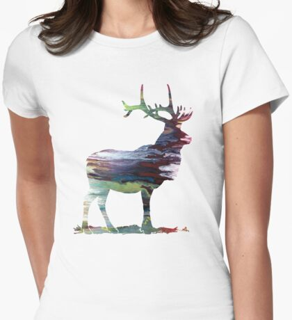 Elk  Womens Fitted T-Shirt