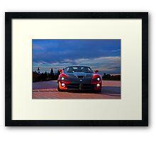 Dodge Viper 'Mano a Mano' Framed Print