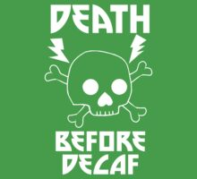 Death Before Decaf Black One Piece - Short Sleeve