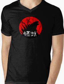 Kaiju Rising Mens V-Neck T-Shirt