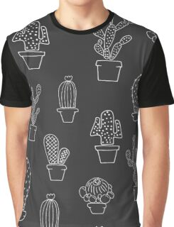 Pattern - Cactuses in the pots Graphic T-Shirt