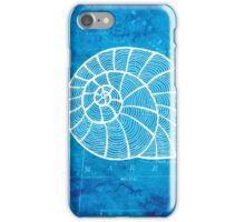 Conch, Illustration Over Nautical Map iPhone Case/Skin