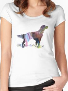 English setter  Women's Fitted Scoop T-Shirt