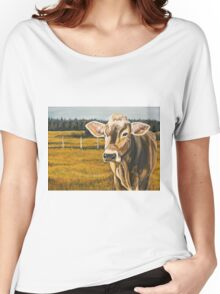Gretchen, Brown Swiss Cow Women's Relaxed Fit T-Shirt