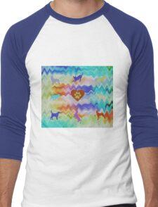 Love Dogs Men's Baseball ¾ T-Shirt