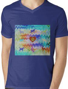 Love Dogs Mens V-Neck T-Shirt