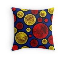 MCM Inspired Batik Moon Dots Throw Pillow