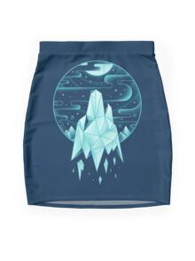 Arctic Wolf Mini Skirt