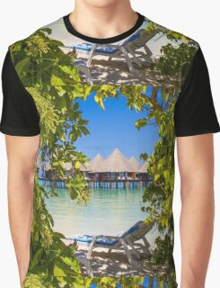 Postcard from the Maldives, Eden on Earth Graphic T-Shirt