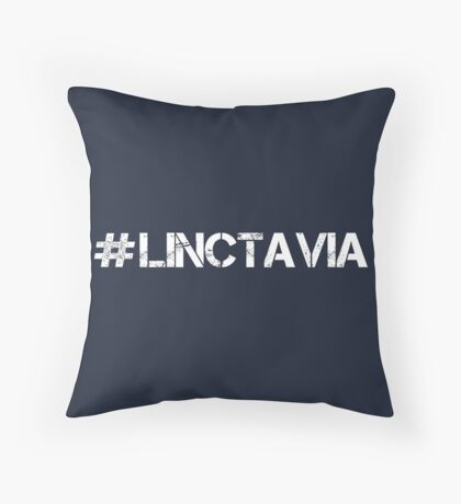 #LINCTAVIA (White Text) Throw Pillow