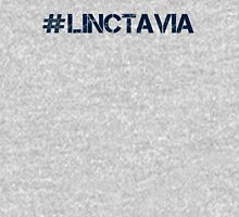 #LINCTAVIA (Navy Text) Womens Fitted T-Shirt