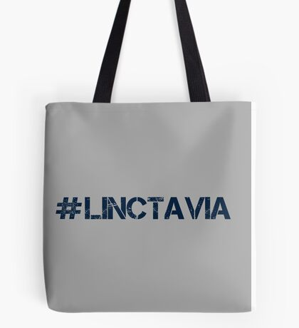 #LINCTAVIA (Navy Text) Tote Bag