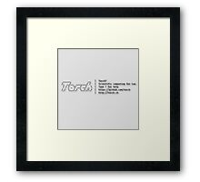 Torch - A SCIENTIFIC COMPUTING FRAMEWORK FOR LUAJIT Framed Print