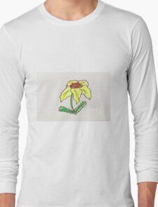 cute yellow flower Long Sleeve T-Shirt