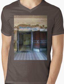 Abandoned movie theater Mens V-Neck T-Shirt