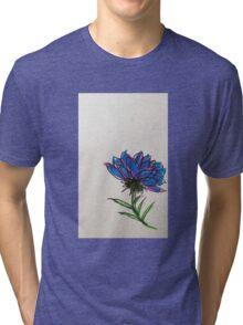 colorful flower Tri-blend T-Shirt