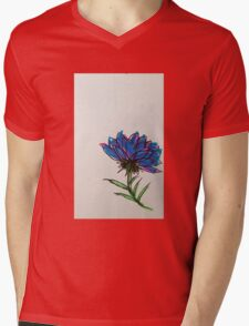 colorful flower Mens V-Neck T-Shirt