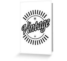Hipster Vintage Logo Greeting Card