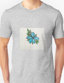 blue hibiscus  T-Shirt