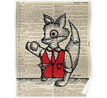 Fox with Monocle Poster