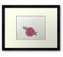 pink poppy flower Framed Print