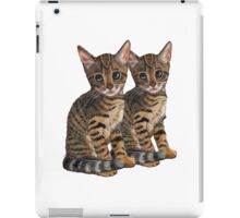 Bengal Kittens: Color Pencil Drawing of CATS iPad Case/Skin