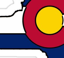 New York outline Colorado flag Sticker