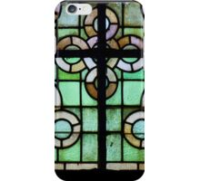 Pattern on stained glass window iPhone Case/Skin