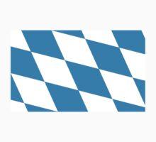 Bavarian Flag of Deutschland - Bayern Munich FC Fahne - T-Shirt Sticker One Piece - Long Sleeve