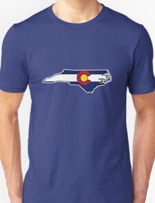 North Carolina outline Colorado flag Unisex T-Shirt