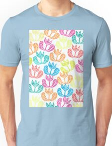 Block print flowers Unisex T-Shirt